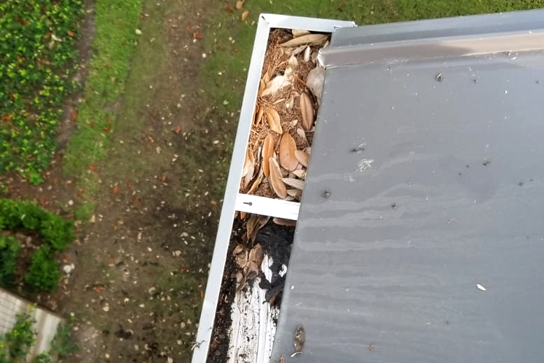 Gutter Cleanout aerial